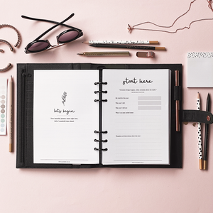 Ella Iconic CEO of My Own Life® A5 Personal Planner Binder Organiser | Black | 2021 Weekly Inserts Spread