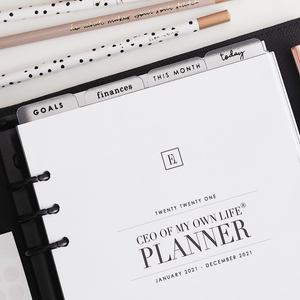 Ella Iconic A5 Personal Planner Dividers | Goals, Finances, This Month, Today