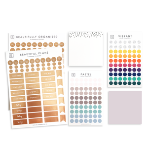 Load image into Gallery viewer, Ella Iconic Rose Gold & Colour Coding Planner Stickers Bundle