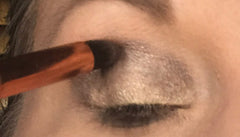 Applying Medium Shade of Eyeshadow to Crease