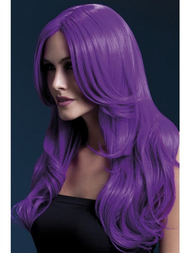 Purple long crossdressing wig for men