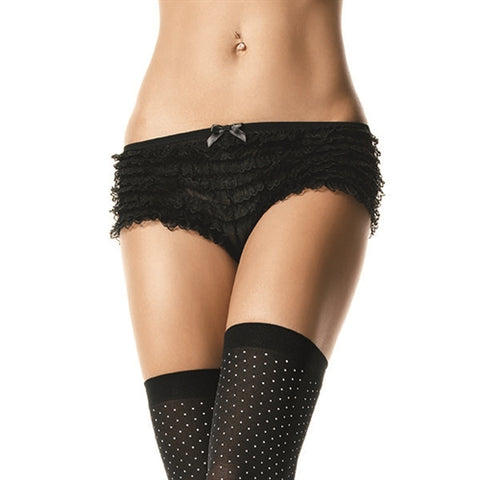 Black Ruffle Panties for Crossdressers