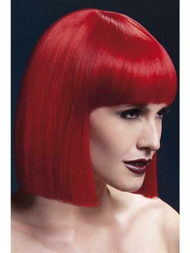 Short red crossdressing wig for men
