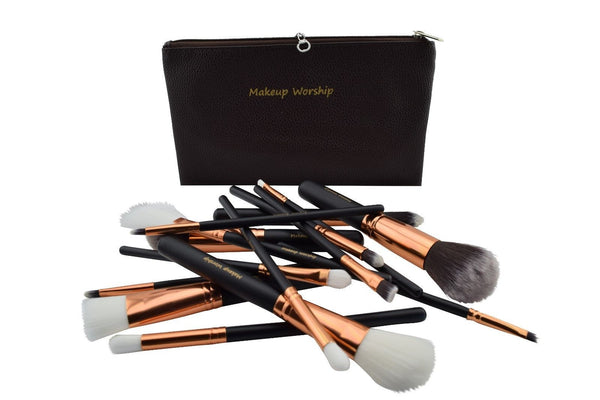 Quality fifteen brush makeup brush set for men