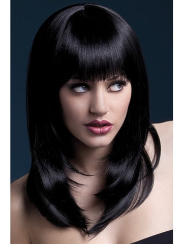 black crossdressing wig for men