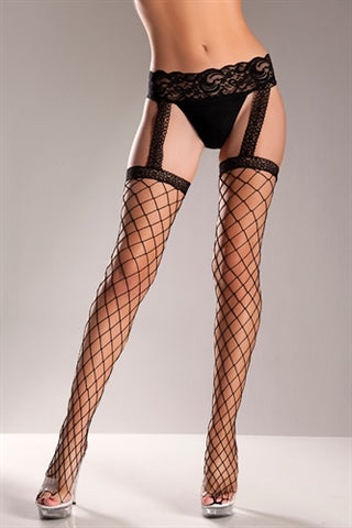 Fence Net Garter Belt Stockings - One Size BW-569B
