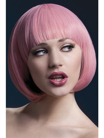 Pink bob crossdressing wig for men