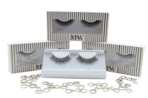 Beautiful stacked set of sexy false eyelashes