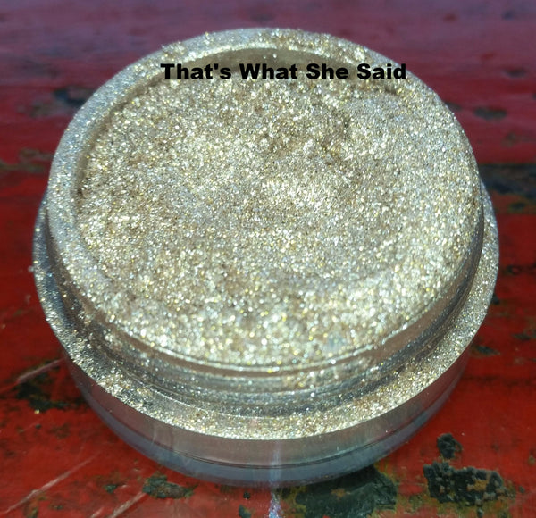 sparkly gold eyeshadow for men