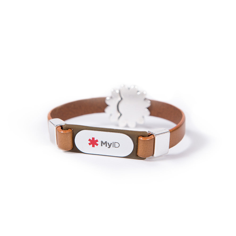 Magnetic Flower Clasp MyID Medical ID Bracelet