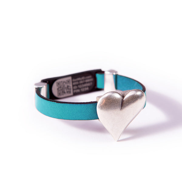 Magnetic Heart Clasp MyID Medical ID Bracelet