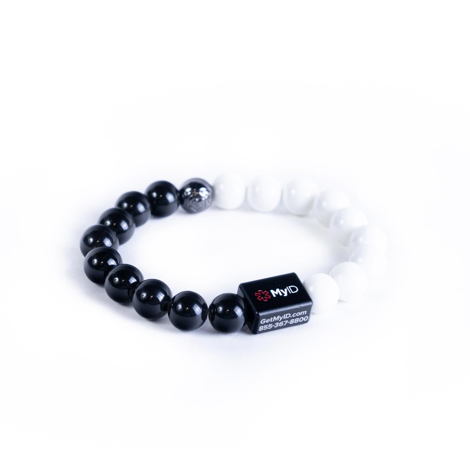 Negative Ion Ceramic Medical ID Bracelet