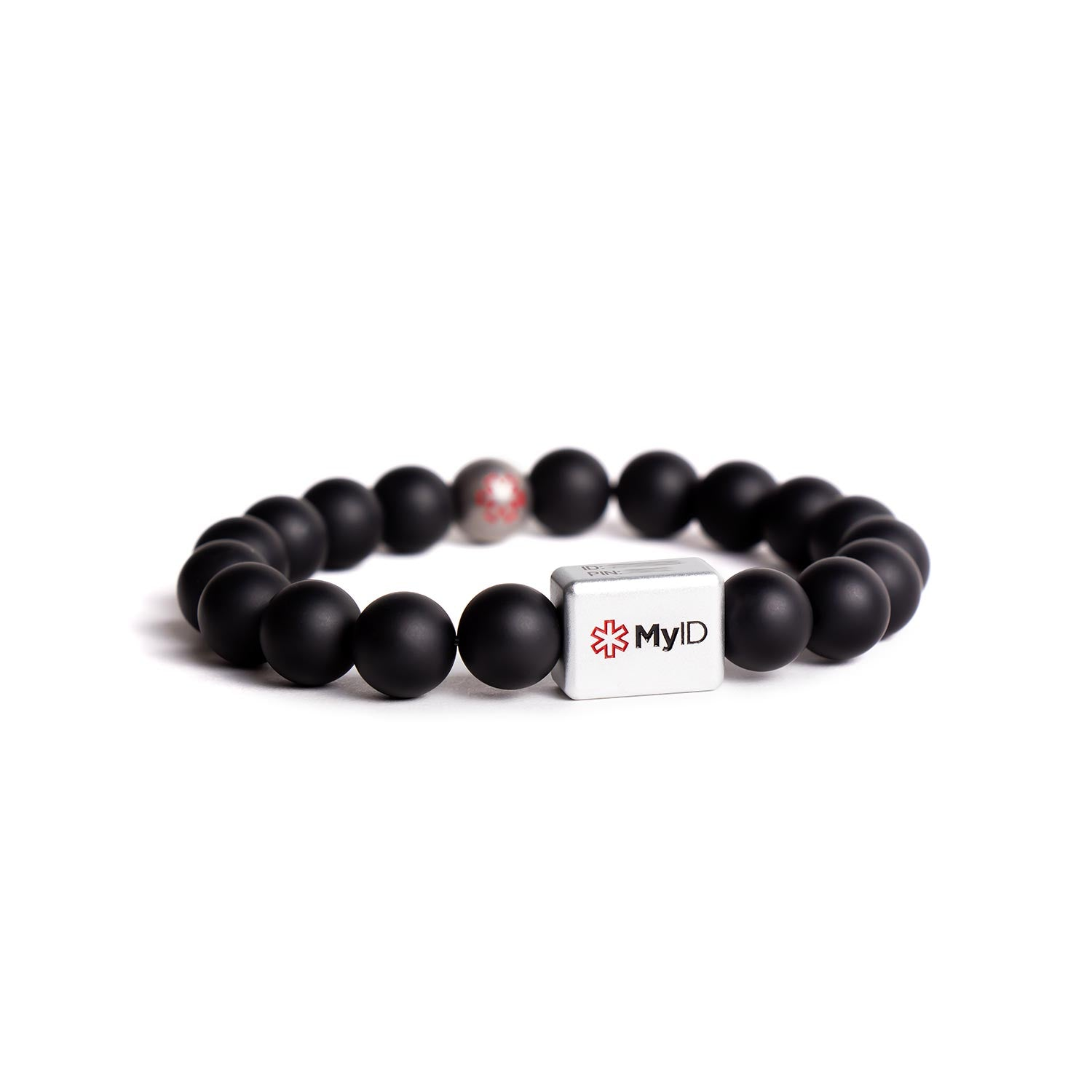 Black Agate Medical ID Bracelet