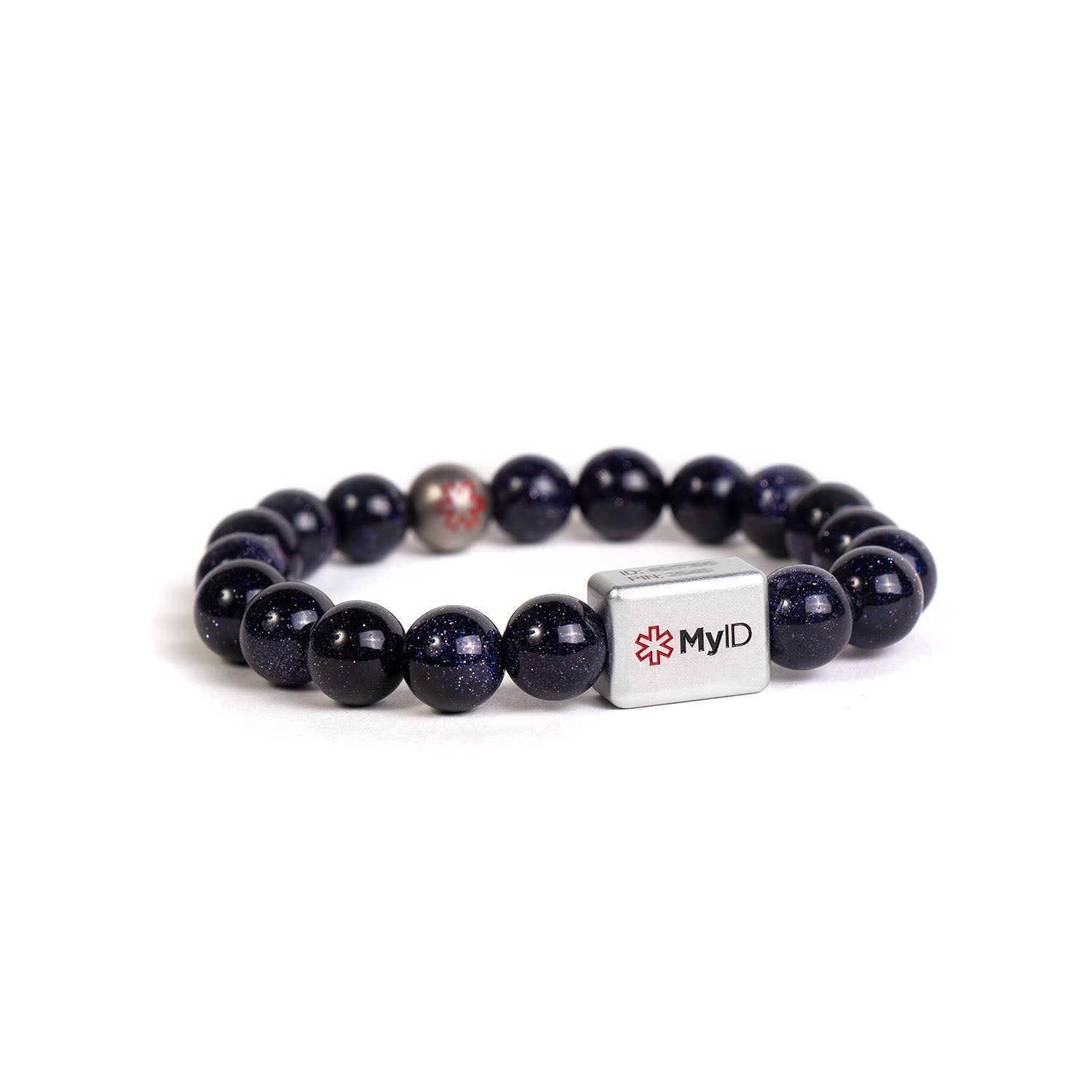Blue Goldstone Medical ID Bracelet