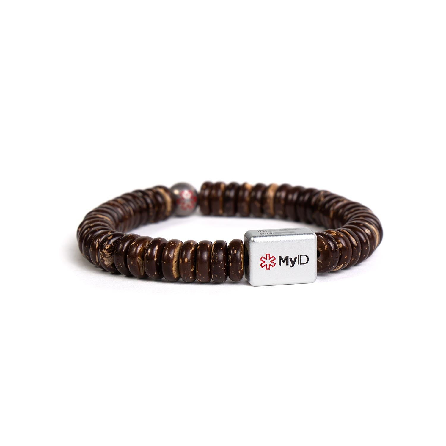 Coconut Shell Medical ID Bracelet