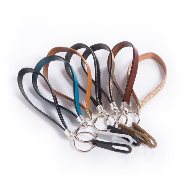 Leather Wristlet Medical ID Keychain Variety