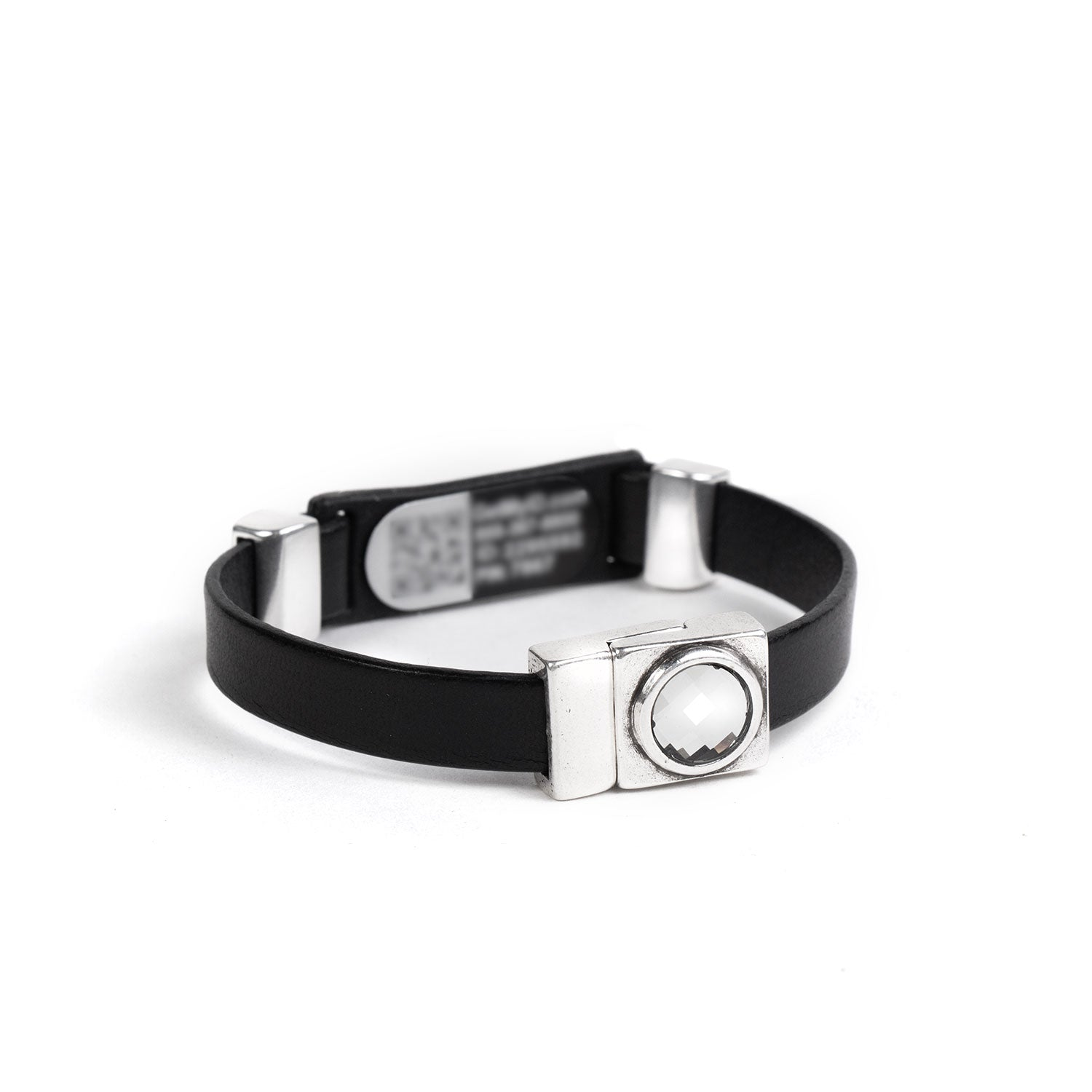 Rectangle Magnetic Clasp with Swarovski Crystal Medical ID Bracelet