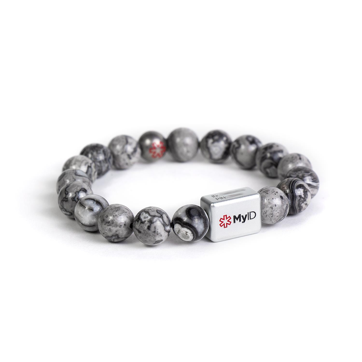 Silver Agate Medical ID Bracelet