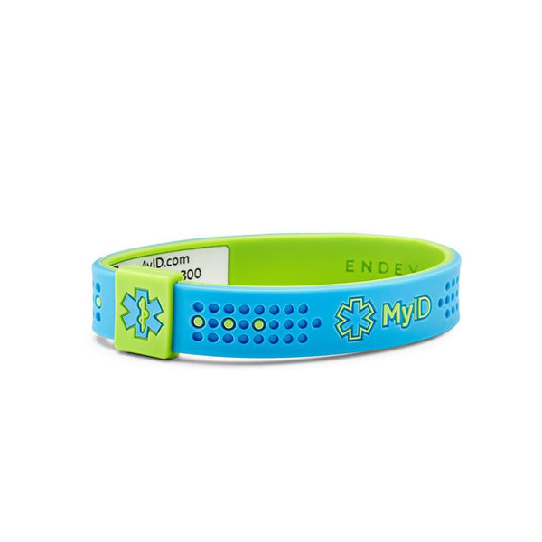 MyID Sport Blue/Green Medical ID