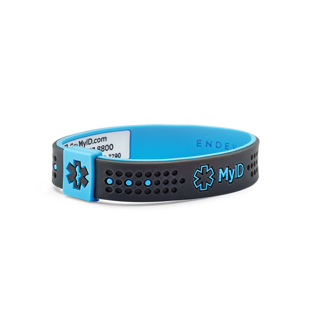 products easy sport myid information bracelet id gray alert medical blue