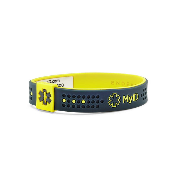 MyID Sport Gray/Yellow Medical ID