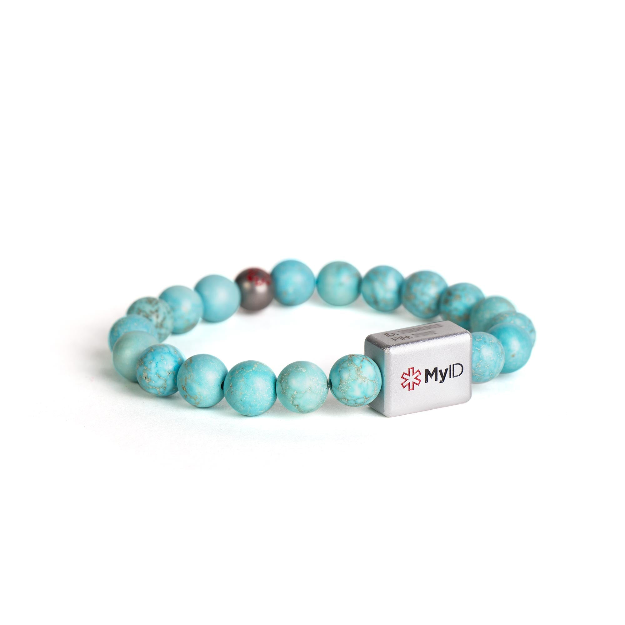 Turquoise Stone Medical ID Bracelet