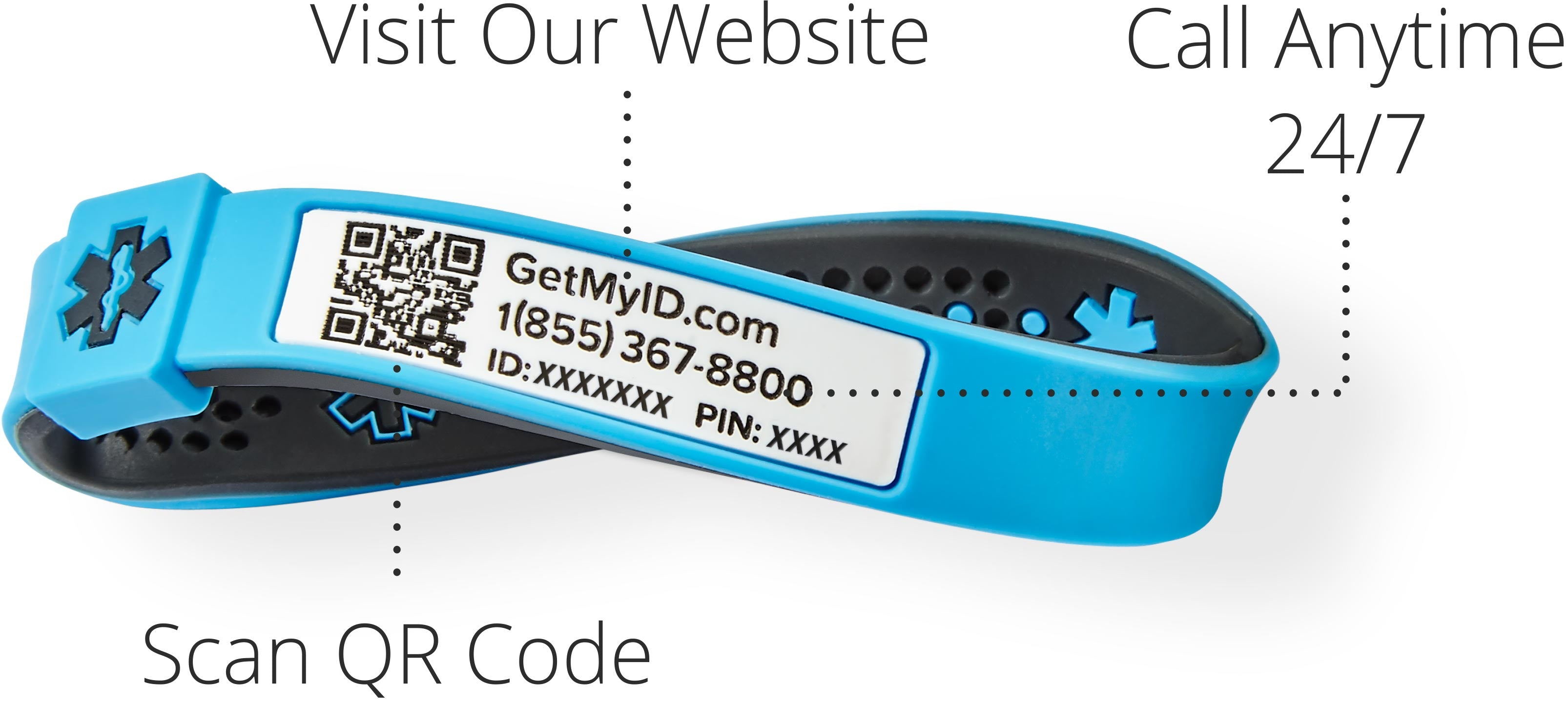 kids medical id bracelet access points