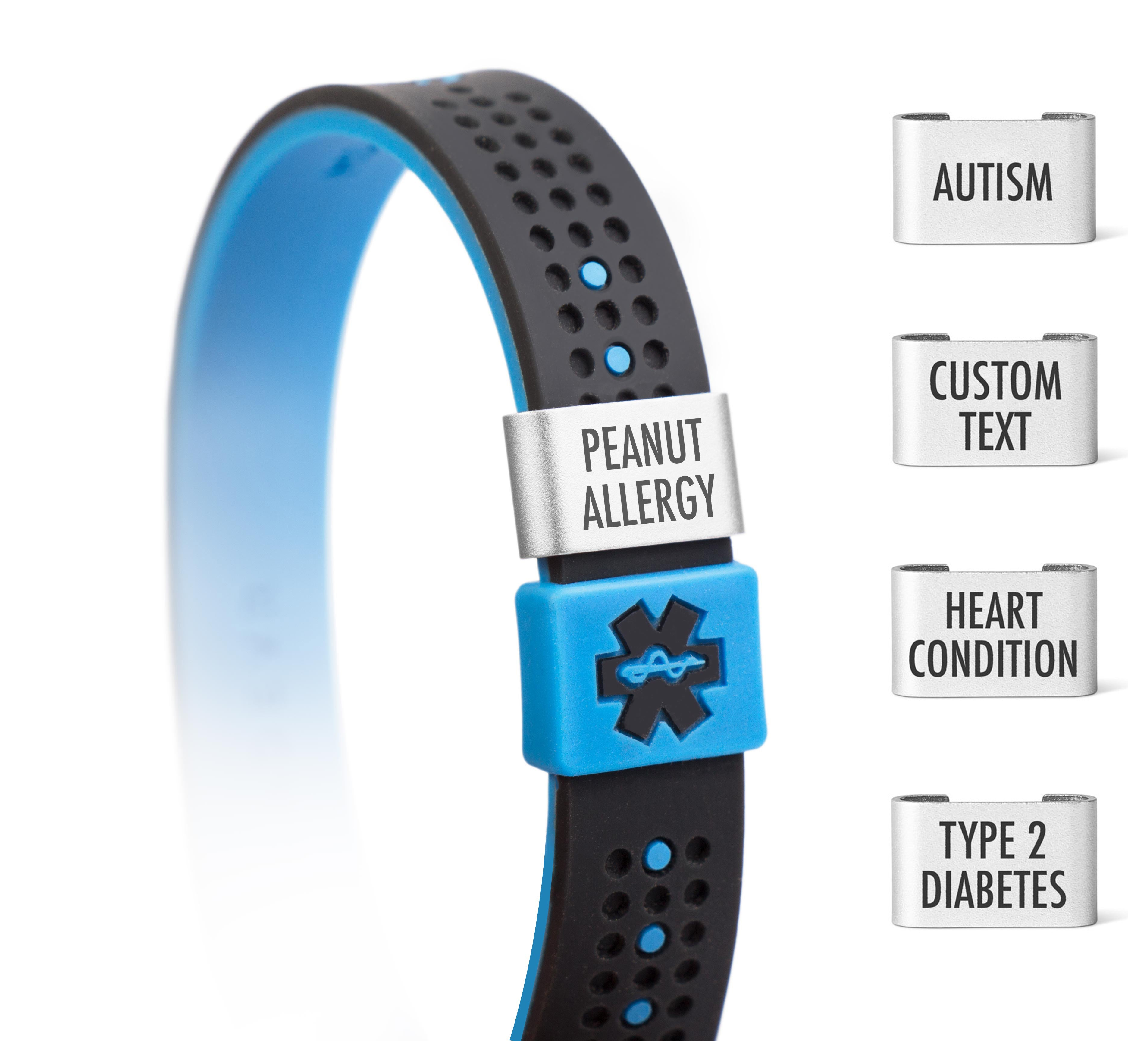 myid sport medical id bracelet with slider