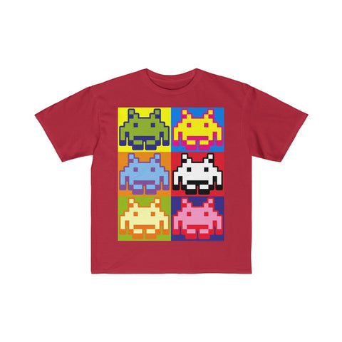 Space Invaders Pop Art Kids T-Shirt