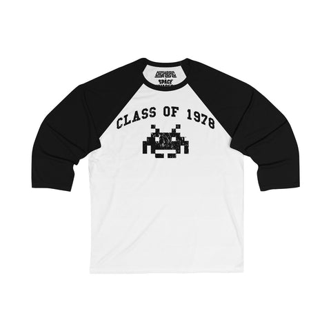 Space Invaders Class of 1978 Baseball T-Shirt