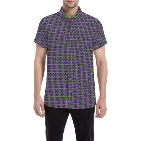 Space Invaders Chill Short Sleeve Button Up Shirt