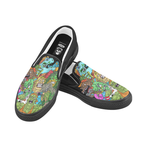 Toxic Crusaders Crew Canvas Slip Ons (Re-Issue)