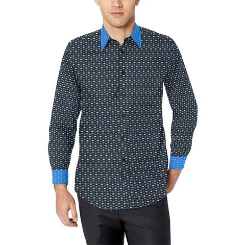 Space Invaders Look Alive Long Sleeve Button Up Shirt