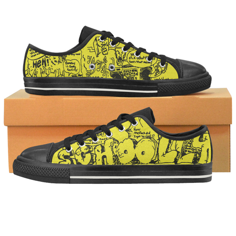 "Schoolly D ""The OGs"" Canvas Low Tops"