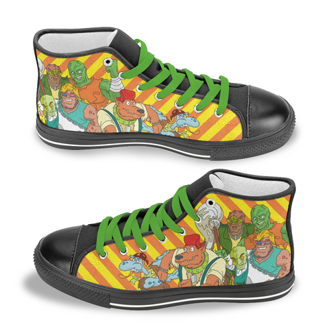 Toxic Crusaders - High Top Canvas Shoes