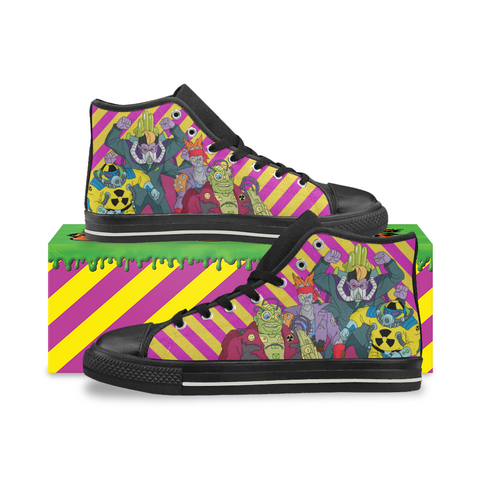 Toxic Crusaders - Apocalypse Inc - High Top Canvas Shoes