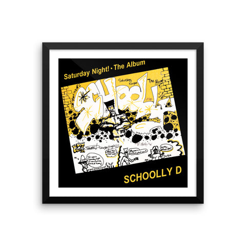"Schoolly D ""Saturday Night! - The Album"" Framed Artwork"