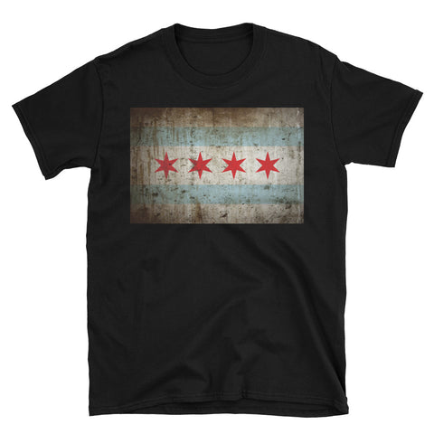 Chicago Rustic Flag T-Shirt