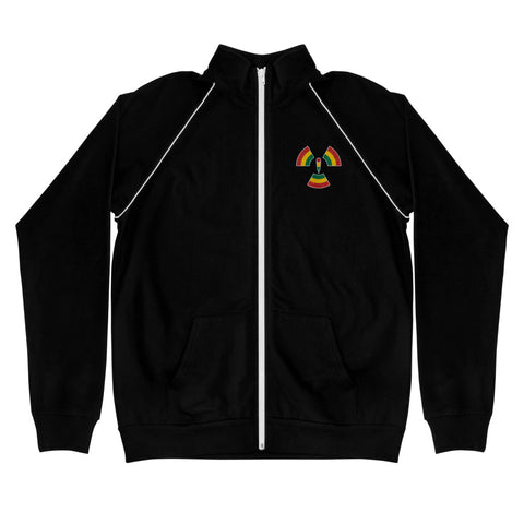 Microphone Misfitz Embroidered Piped Fleece Jacket