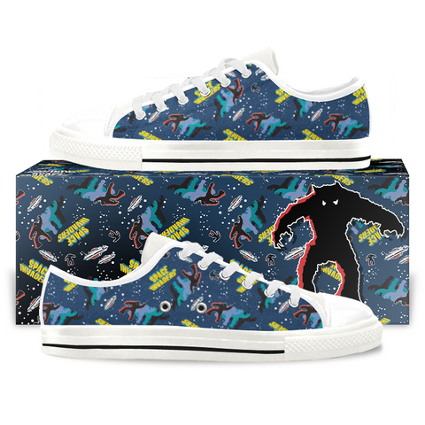 Space Invaders Canvas Low Tops