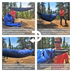 how to hammock compatible sleeping bag
