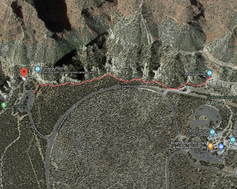 Rim Trail from Mather Point to Yavapai Geology Museum