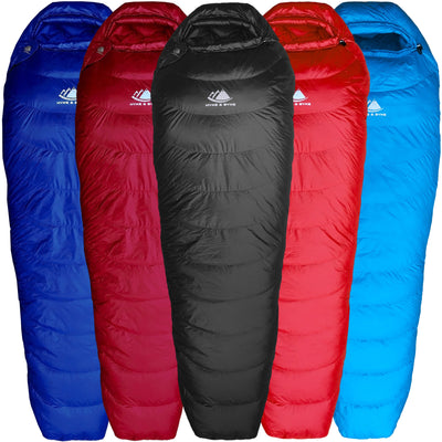 Shavano 32°F Ultralight 650FP Down Sleeping Bag Sleeping Bag Hyke & Byke Regular Black