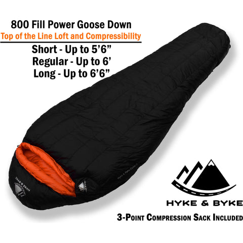 Eolus 15°F Ultralight 800FP Goose Down Sleeping Bag