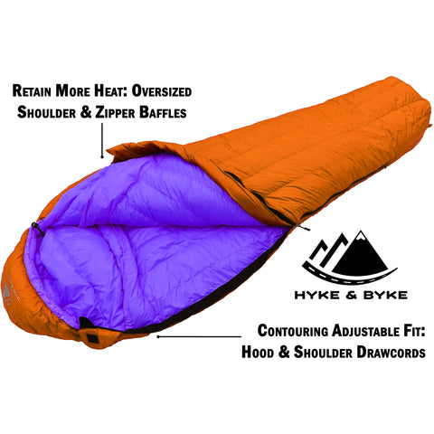 Eolus 800 Fill Power 30°F Ultralight Goose Down Sleeping Bag