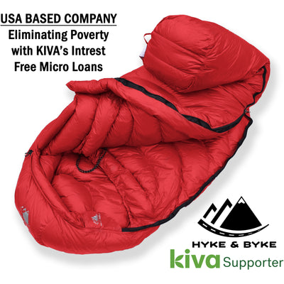 Quandary 15°F Ultralight 650FP Down Sleeping Bag Sleeping Bag Hyke & Byke