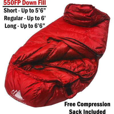 Shavano 32°F Ultralight 650FP Down Sleeping Bag Sleeping Bag Hyke & Byke