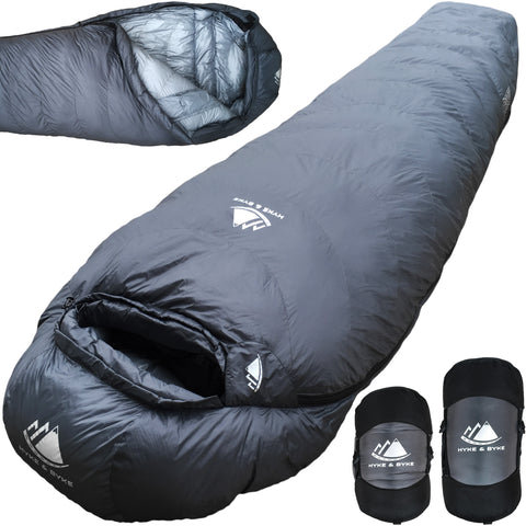 0 Degree F 625 Fill Power Hydrophobic Sleeping Bag with Advanced Synthetic
