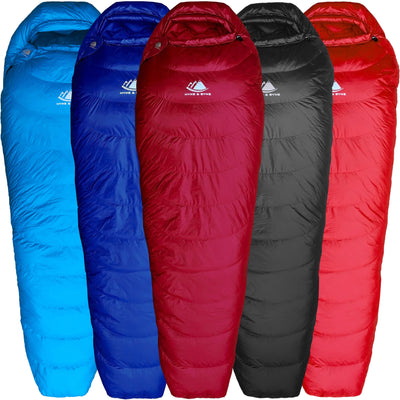 Shavano 32°F Ultralight 650FP Down Sleeping Bag Sleeping Bag Hyke & Byke Regular Maroon