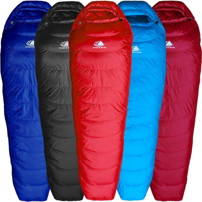 Shavano 32°F Ultralight 650FP Down Sleeping Bag Sleeping Bag Hyke & Byke Long Red